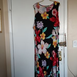 LOVELY FLORAL MAXI DRESS BY ATTITUDES BY RENEE-3X